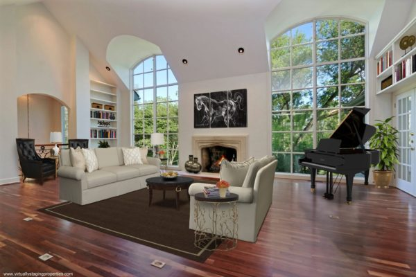virtual staged living room