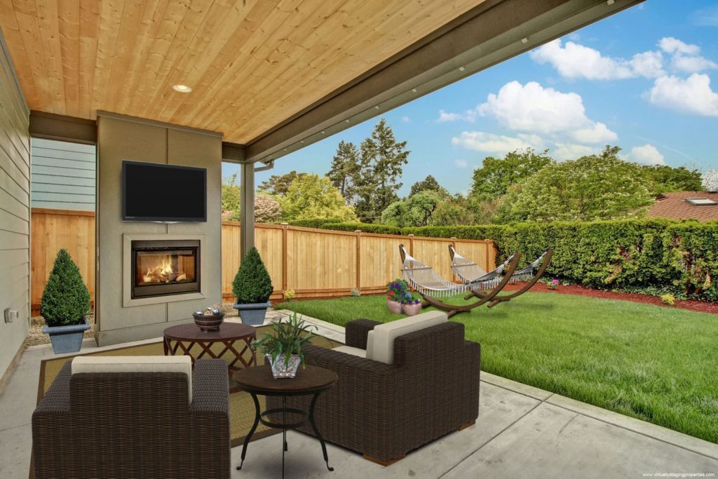 virtual staged outdoor space 7
