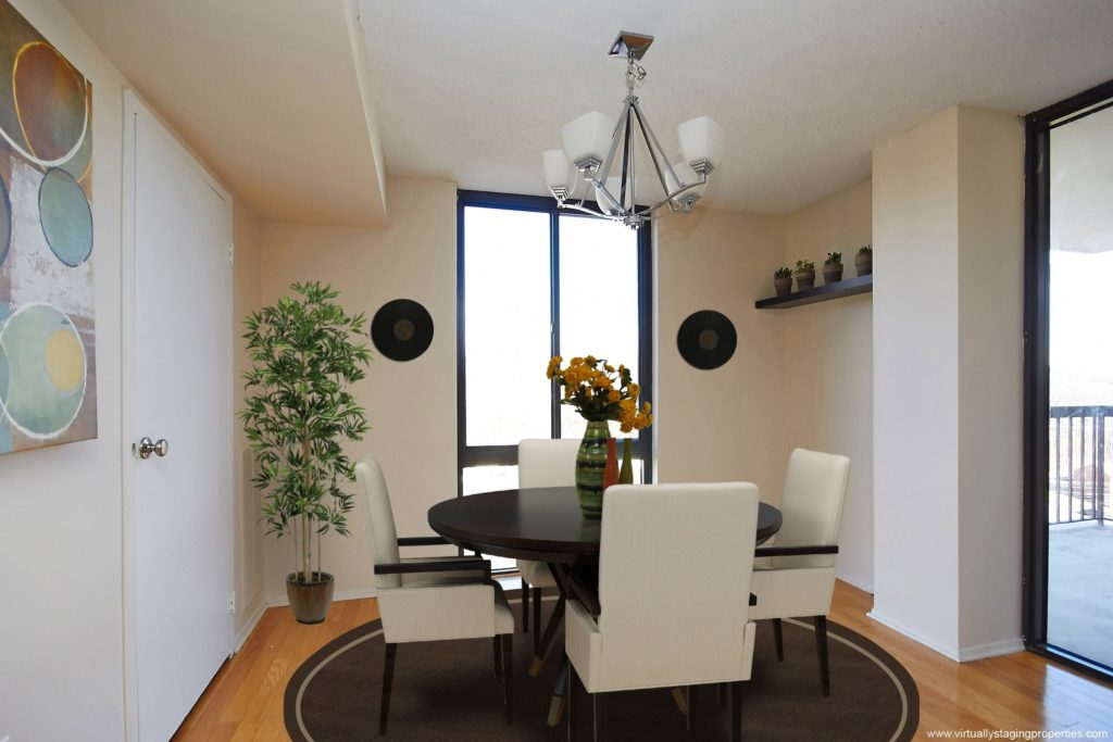 virtual staged dining room 5