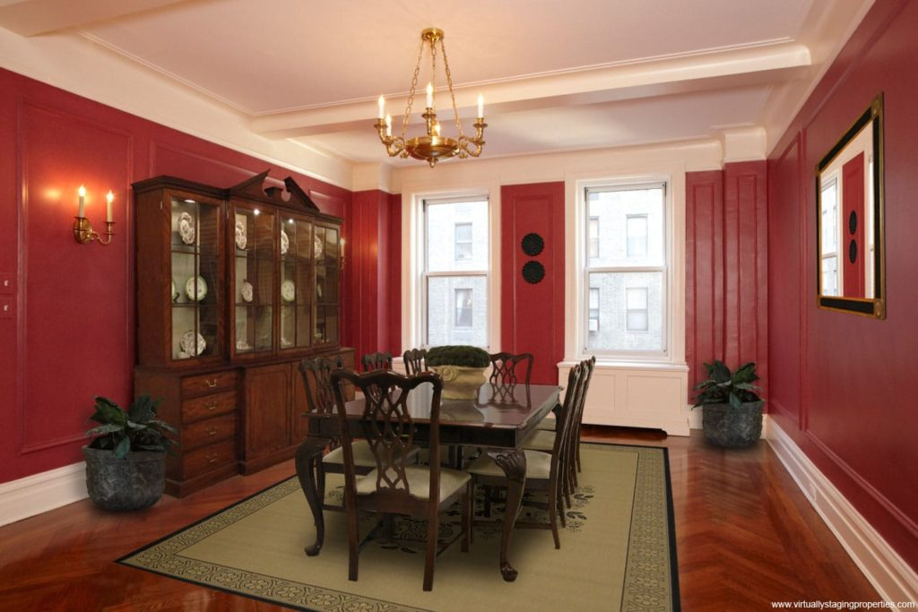 virtual staged dining room 6