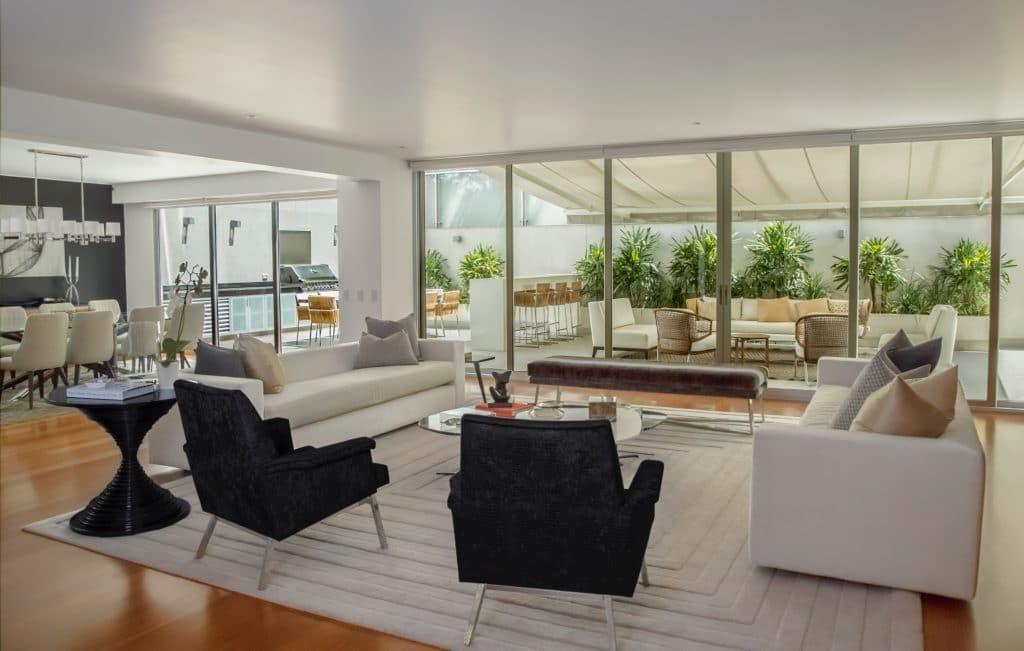 Elegantly staged living room